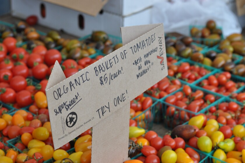 Cherry tomatoes from the farmers market