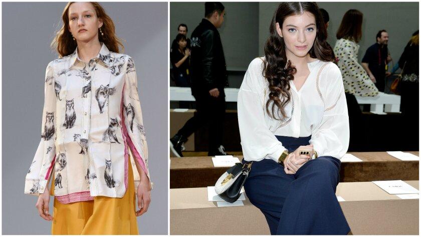 Celine and Lorde at Paris Fashion Week