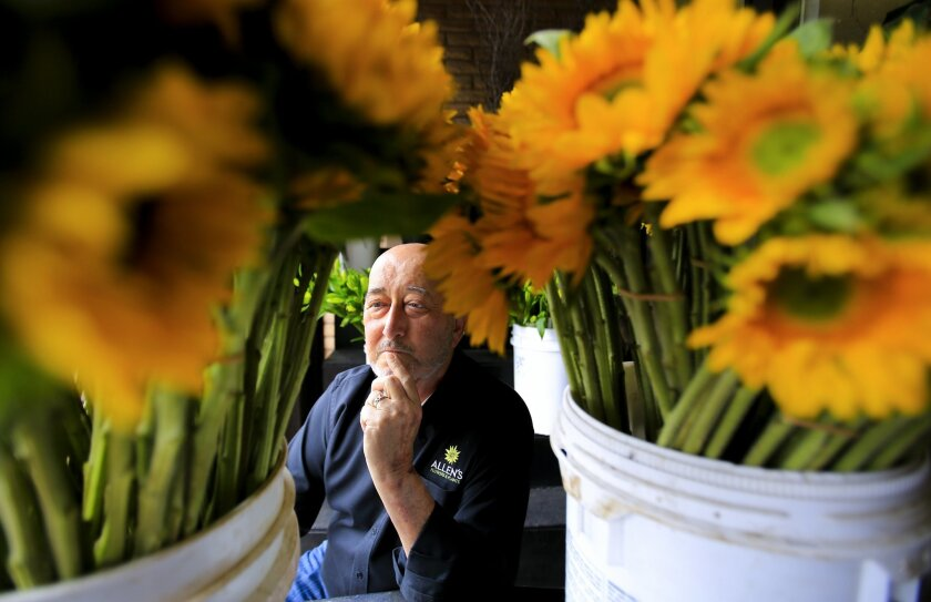 Max Allen Levy, owner of Allen's Flowers and Plants, is a participant in a clinical trial to fight high grade glioma, a deadly form of brain cancer. He's able to live a mostly normal life after treatment with a therapy from San Diego's Tocagen.