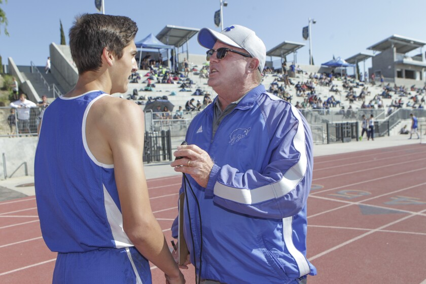 Rancho Bernardo track coach Don Jones led the Broncos to 14 track and field CIF championships. (Bill Wechter)