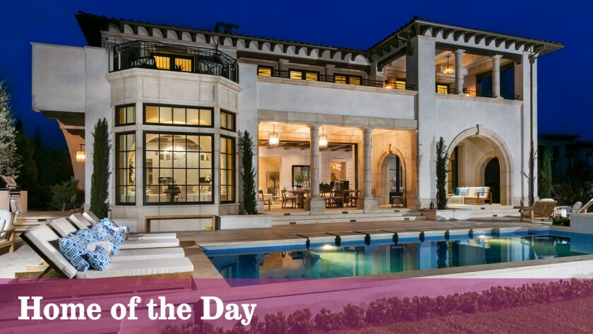The newly built Mediterranean-style mansion is in Newport Coast, a community that makes up the southern part of Newport Beach.