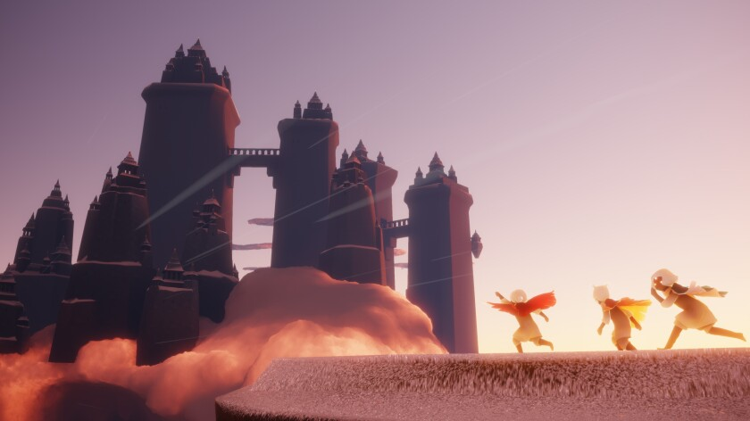"""Screenshot from the game """"Sky, """" from thatgamecompany based in Santa Monica."""