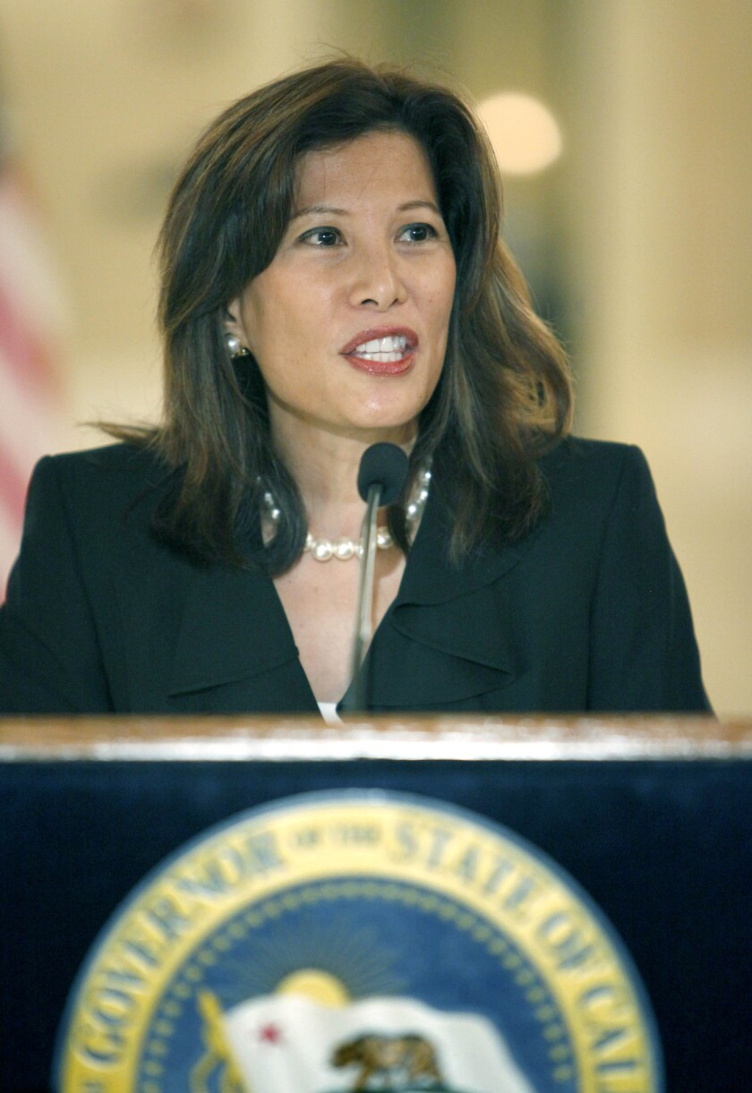 Chief Justice Tani Cantil-Sakauye says Brown's budget plan would probably require cutbacks and layoffs.
