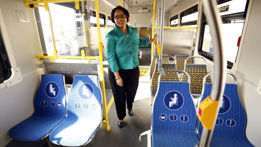 Stephanie Wiggins, shown in 2015, has been hired as the next chief executive officer of Metrolink, Southern California's commuter rail agency.