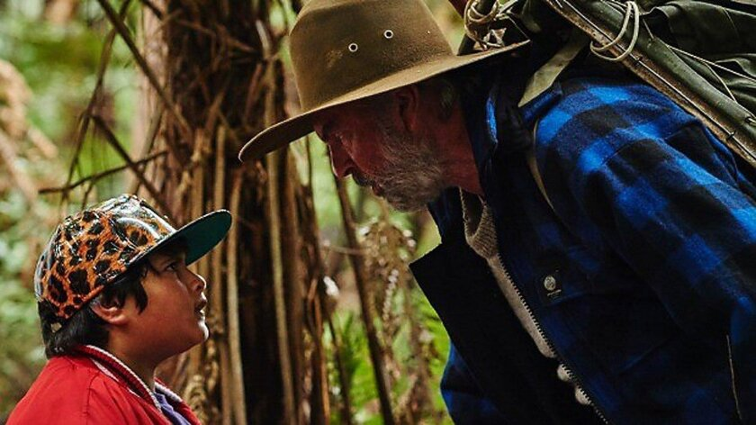 """Julian Dennison (left) as Ricky and Sam Neill as Hec in """"Hunt for the Wilderpeople."""""""