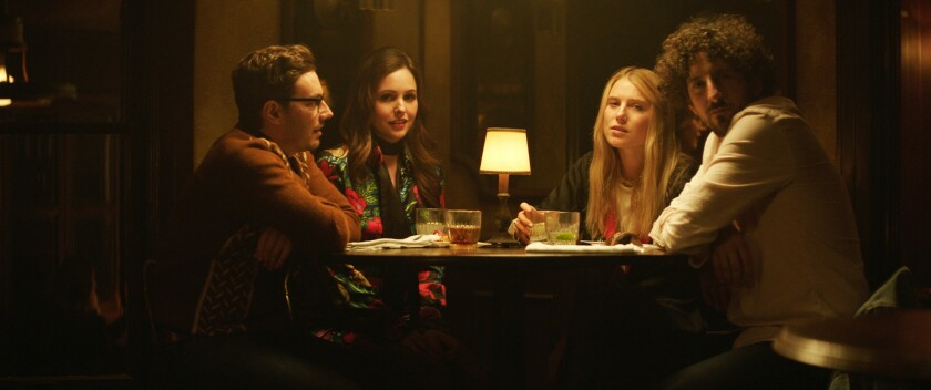 """Jorma Taccone, Michelle Morgan, Dree Hemingway and Adam Shapiro in the movie 'L.A. Times."""" Written and directed by Morgan, the film is having its premiere as part of the Next section at the 2017 Sundance Film Festival."""