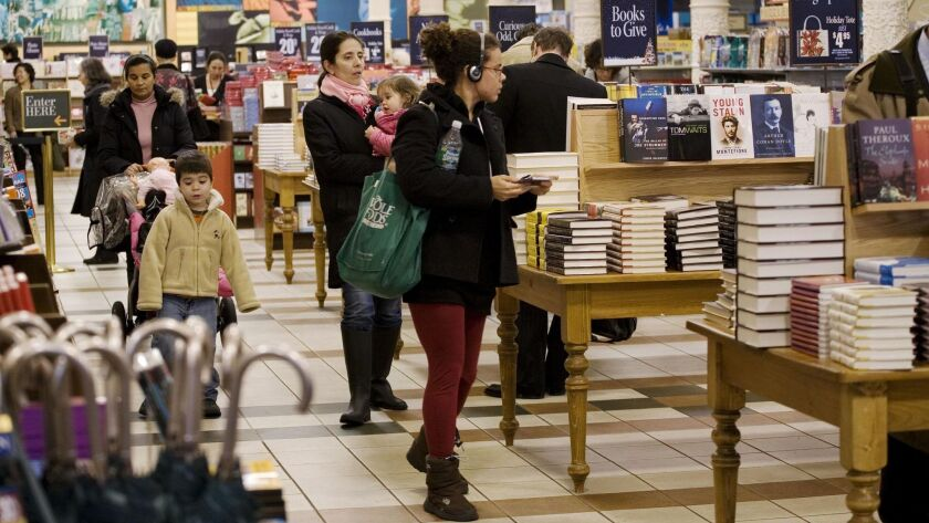 Book buyers start their holiday shopping at the Union Square Barnes & Noble on Tuesday, Nov. 20, 200