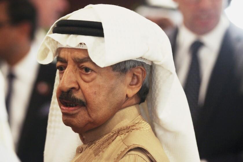 Bahraini Prime Minister Khalifa bin Salman  Khalifa in 2016