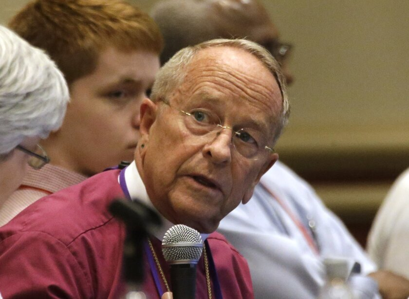 Gene Robinson, who in 2003 became the first openly gay Episcopal bishop, attends the Episcopal General Convention in Salt Lake City on June 25.