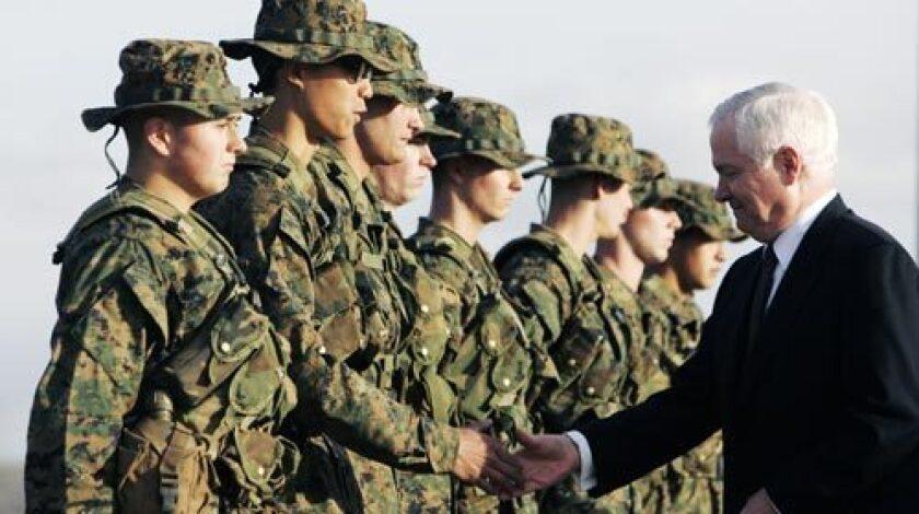 Gates with Marines