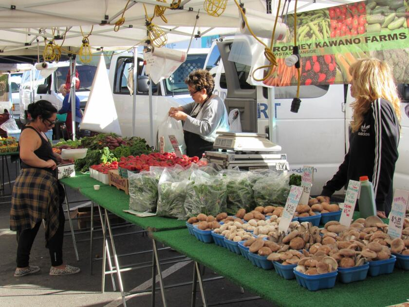 The OB Farmers Market operates 4-8 p.m. each Wednesday down Newport Avenue with entertainment, street food, flowers, crafts and produce for show and sale. (619) 279-0032.