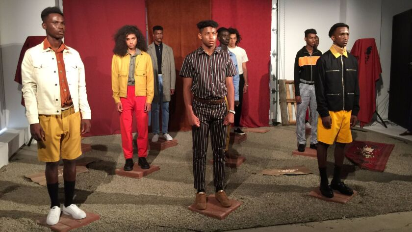 Head of State+ was one of several labels at the NYFW: Men's shows that referenced political turmoil