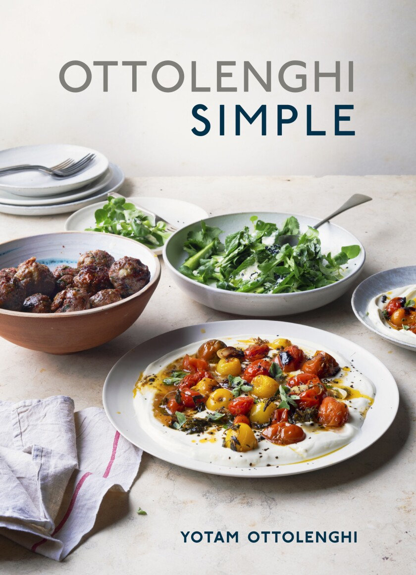 """UNDER EMBARGO UNTIL 9/8/2018 - Cover of the cookbook of the week """"Ottolenghi Simple: A Cookbook"""" by"""