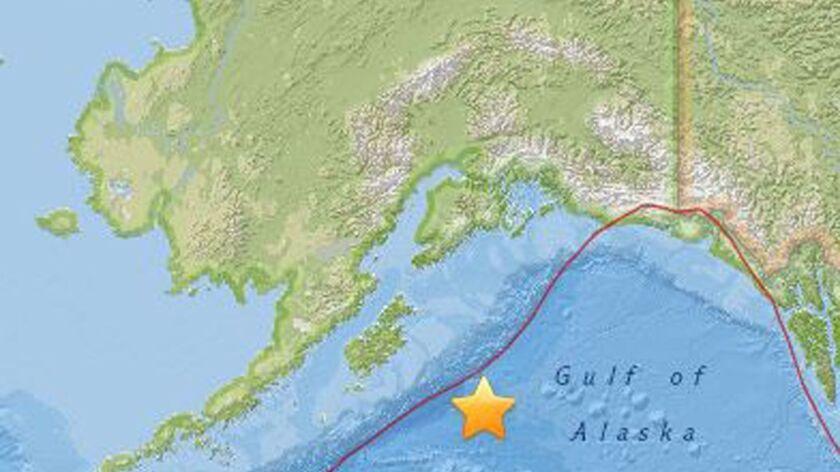 An earthquake struck 175 miles southeast of Kodiak, Alaska, on Jan. 23.