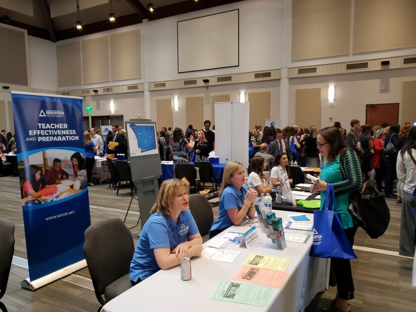 The San Diego County Office of Education is holding this year's career fair virtually on Wednesday.