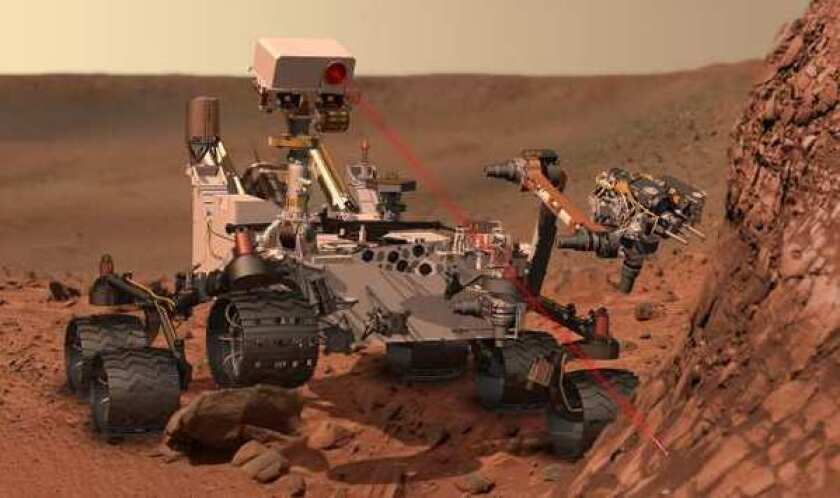 This artist's rendering provided by NASA shows the Mars Rover Curiosity.