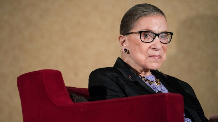 Supreme Court Justice Ruth Bader Ginsburg in Pojoaque, N.M., in August.