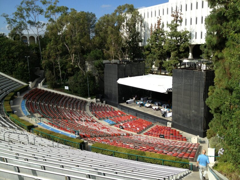 Under a deal announced Monday, the on-campus amphitheater will be renamed the Cal Coast Credit Union Open Air Theater starting Jan. 1. / photo by Karen Kucher * U-T