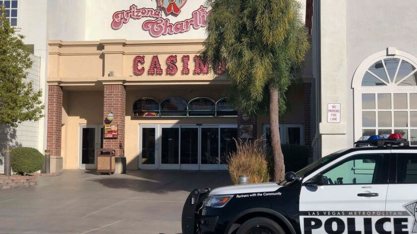 Metropolitan Police Department officers were called sometime after 6:30 a.m. Saturday to investigate reports of a shooting at Arizona Charlie's hotel-casino in Las Vegas.
