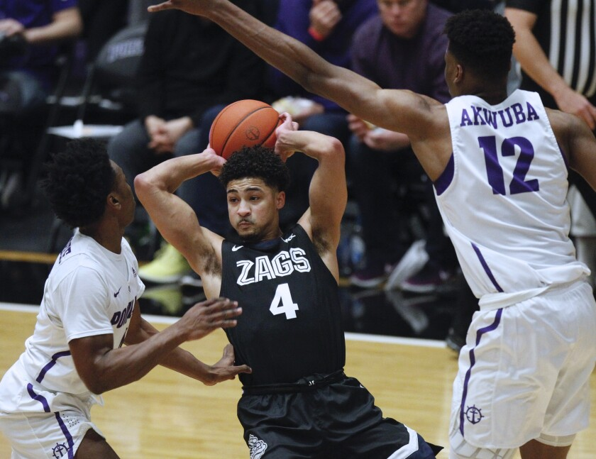 Gonzaga's Ryan Woolridge has played a key role for the top-ranked Bulldogs this season.