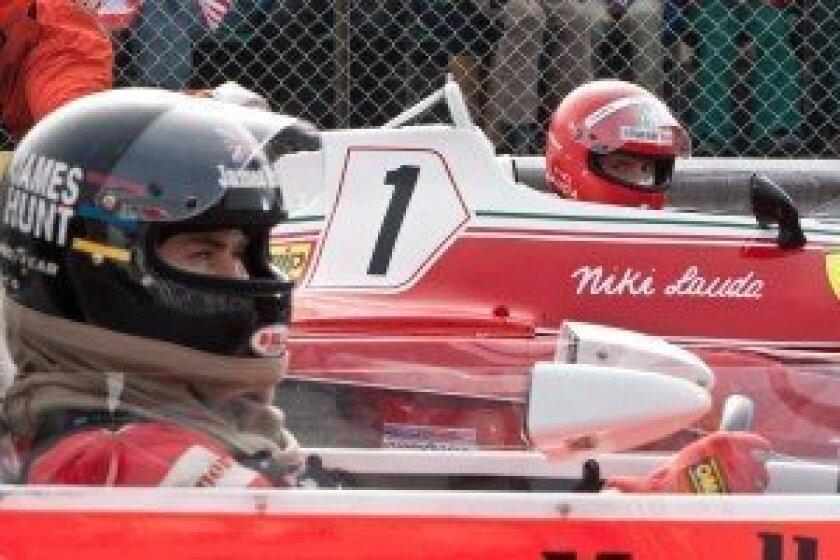 James Hunt & Niki Lauda (RUSH photo)