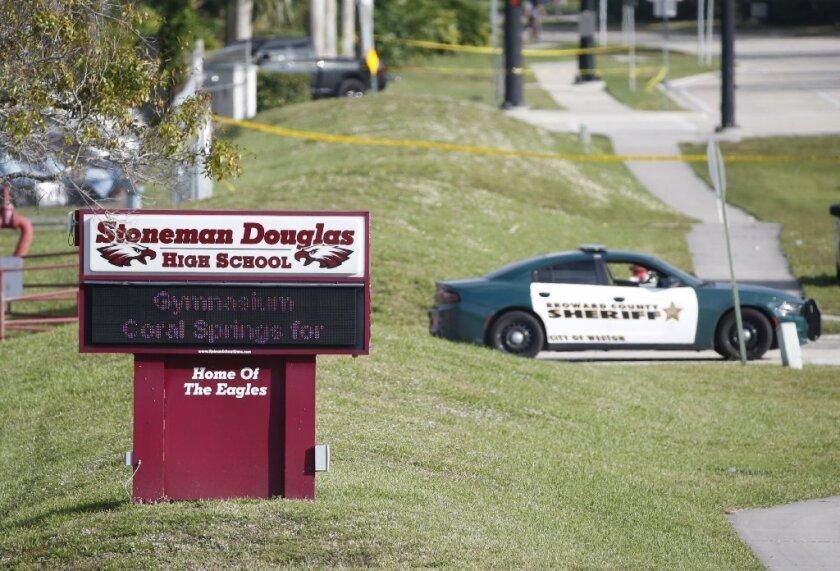 La Secundaria Marjory Stoneman Douglas de Parkland, Florida, el escenario del incidente más reciente con armas de fuego dentro de una escuela de Estados Unidos.