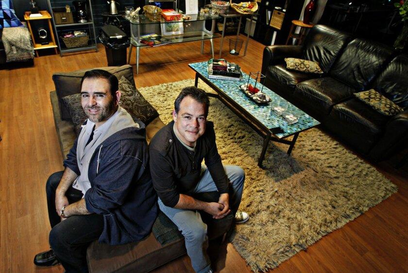 Ion Theatre leaders Claudio Raygoza (left) and Glenn Paris.