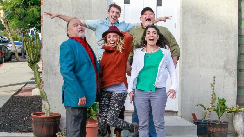 SAN DIEGO, CA November 30th, 2018 | Tuyo Theatre Company players (from left) Peter James Cirino, Ber