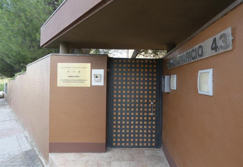 Vista de la embajada de Corea del Norte en Madrid. EFE/Archivo