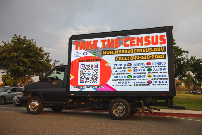 A truck recently helped publicize census in National City.