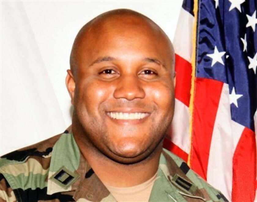 This undated photo released by the Los Angeles Police Department shows suspect Christopher Dorner, a former Los Angeles officer. Seeking leads in a massive manhunt, Los Angeles authorities on Sunday put up a $1 million reward for information leading to the arrest of Christopher Dorner, the former L