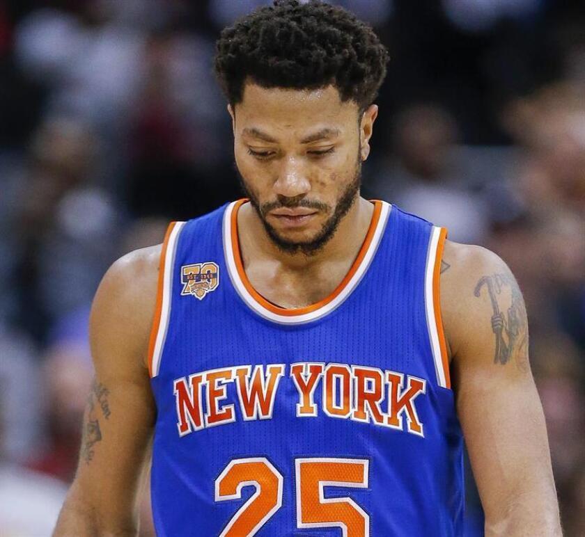 El jugador de los Knicks Derrick Rose. EFE/Archivo