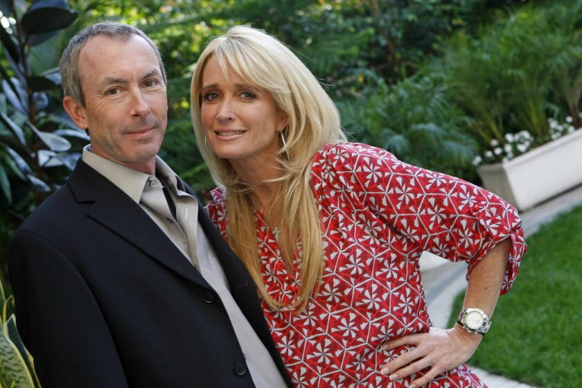 Kim Richards and Ike Eisenmann pose for portraits at the Four Seasons Hotel in Los Angeles in 2009. Richards, 50, was arrested Thursday in Beverly Hills.