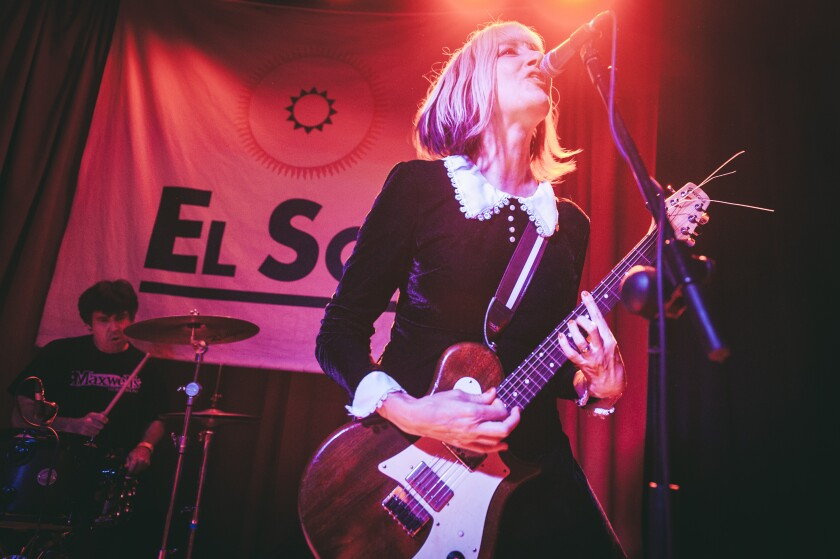Kim Shattuck of the Muffs onstage in 2015