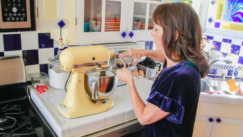 SAN DIEGO, CA November 14th, 2018 | Nancy Flint, owner of Sugar Mamma candies, makes new batch of he