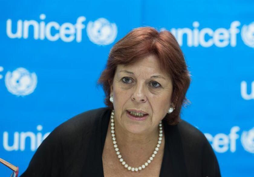 Fotografía de la directora regional de Unicef para América Latina y el Caribe, María Cristina Perceval, durante una entrevista con Efe. EFE/Archivo