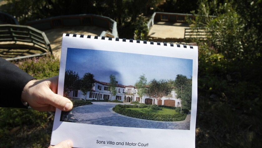 A 2011 photo of part of a Saudi prince's planned 5-acre development in Benedict Canyon.