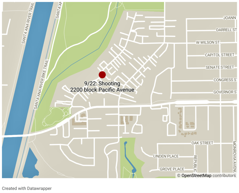 Police responded Tuesday afternoon to reports of gunshots on the 2200 block of Pacific Avenue.