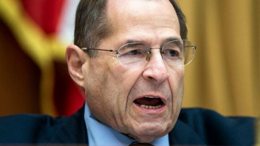 House Judiciary Committee Chairman Jerrold Nadler (pictured in June) will hold a hearing on Monday to hear evidence that could lead to articles of impeachment against President Trump.