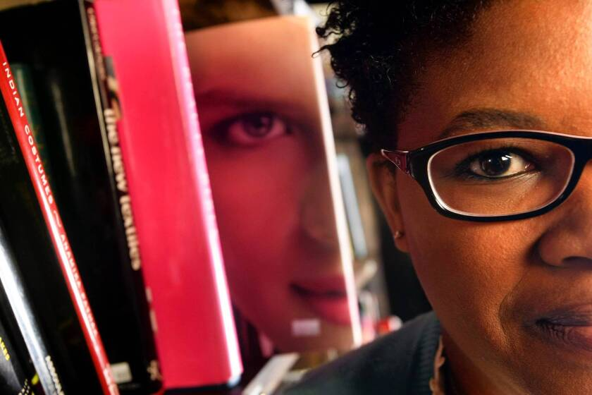 """Attica Locke, author of the book """"The Cutting Season"""", at the Last Book Store in downtown Los Angeles."""
