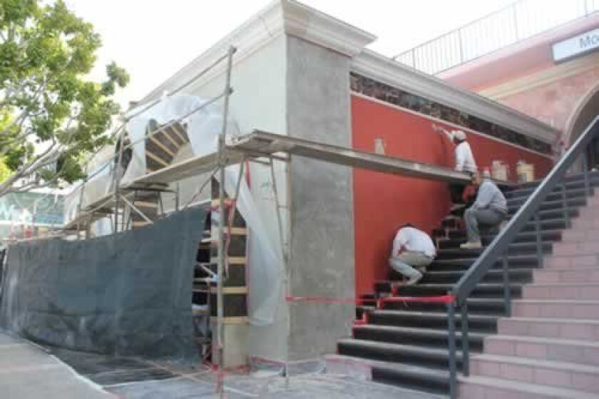 Workers are busy this week renovating the space at 1205 Prospect St. for the planned March 18 opening of Doug Manchester's Amaya La Jolla restaurant.