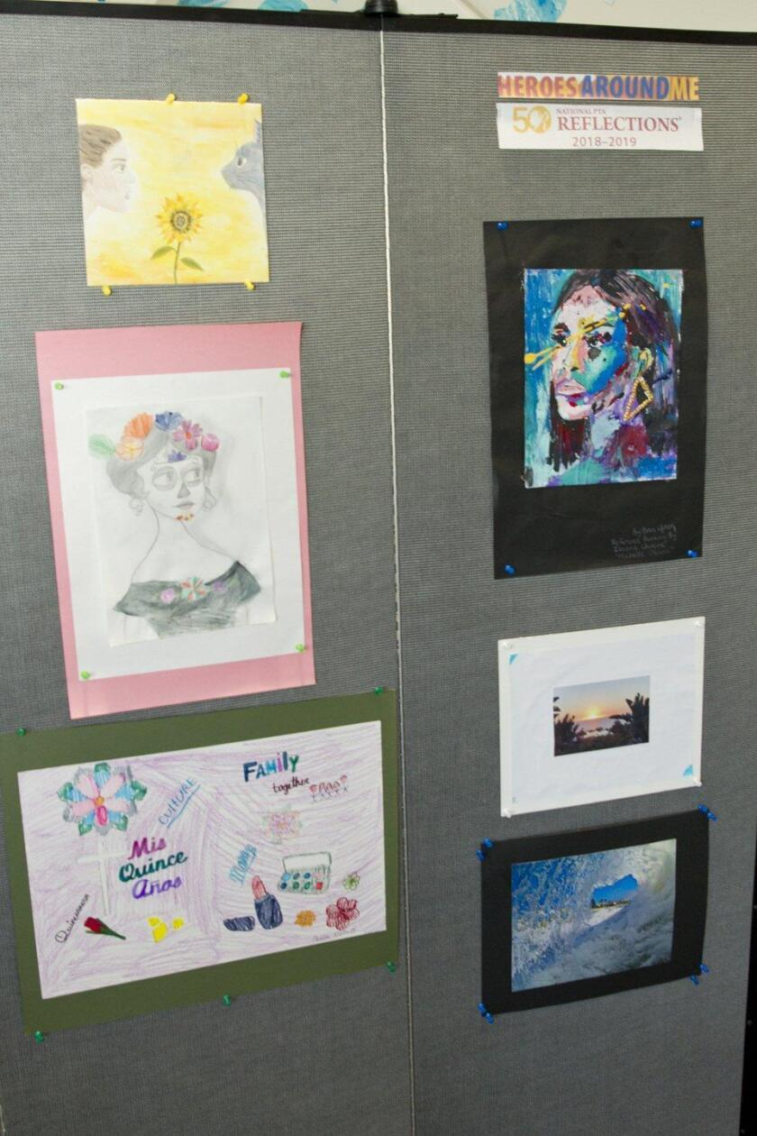 Earl Warren Middle School student entries for the Reflections Program 2018