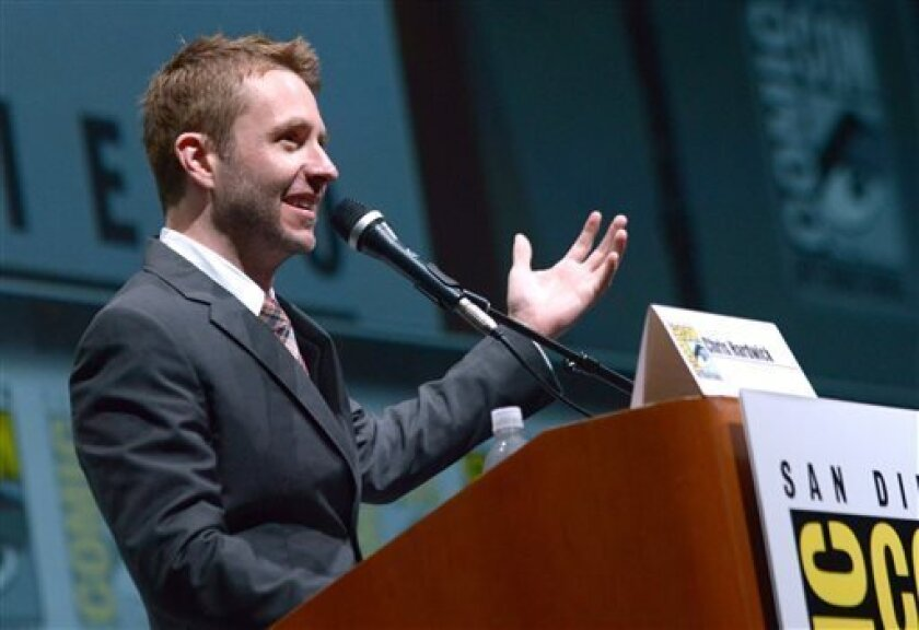 Chris Hardwick introduces a panel at Comic-Con 2013.