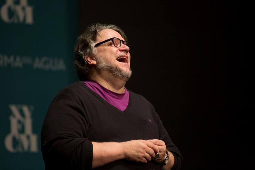 El realizador mexicano Guillermo del Toro durante una conferencia de prensa. EFE/Archivo