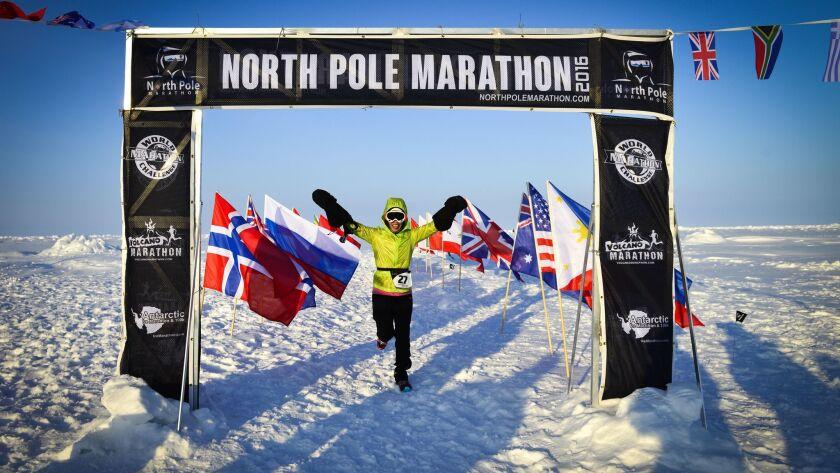 Vivian Lee finished the North Pole Marathon. Mark Conlon / North Pole Marathon
