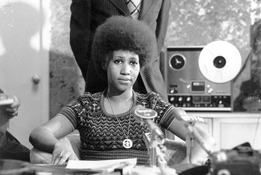 "Aretha Franklin in 1973, shortly after the ""Amazing Grace"" album was recorded and footage was shot."