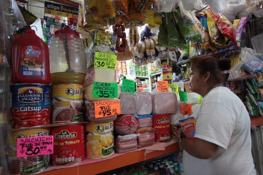 El índice de precios al consumidor (IPC) en México subió 0,39 % en junio frente al mes anterior, por lo que la inflación acumulada en los últimos 12 meses quedó en 4,65 %, informó hoy el Instituto Nacional de Estadísticas y Geografía (Inegi). EFE/Archivo