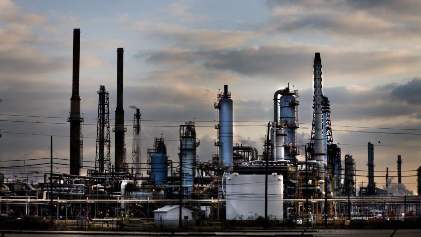 Exxon gas refinery in Baytown, Texas