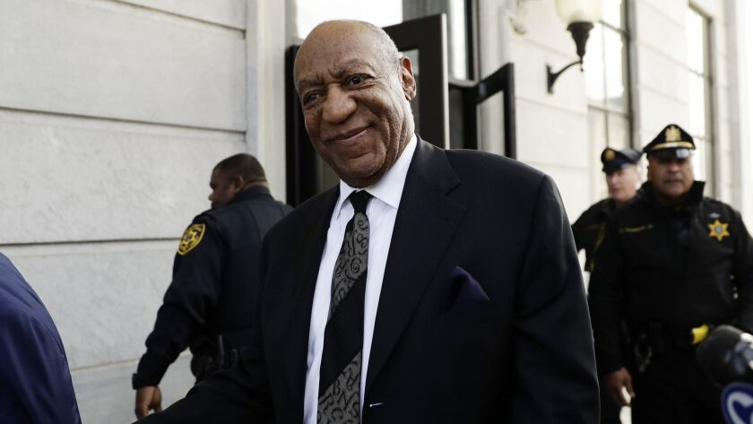 Bill Cosby departs a hearing at the Montgomery County Courthouse in Norristown, Pa., earlier this month.