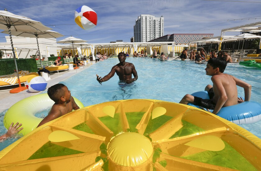Citrus is a new pool at the Downtown Grand.